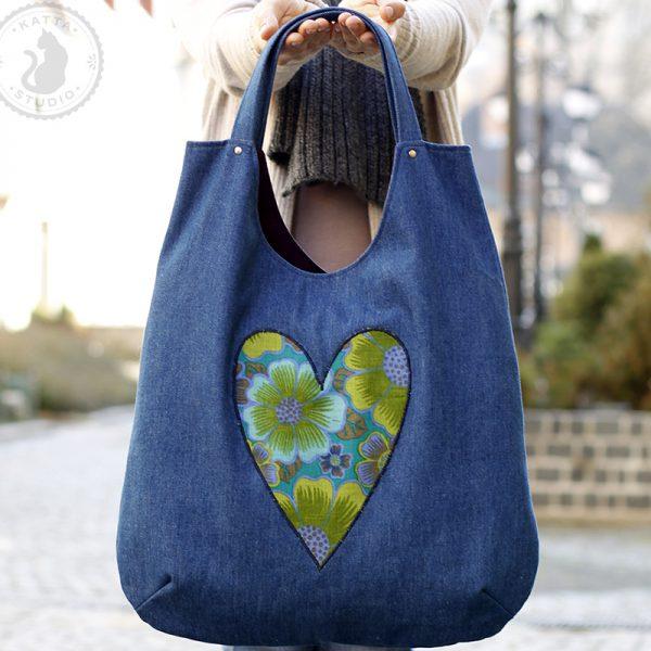 dżinsowa torba na ramię