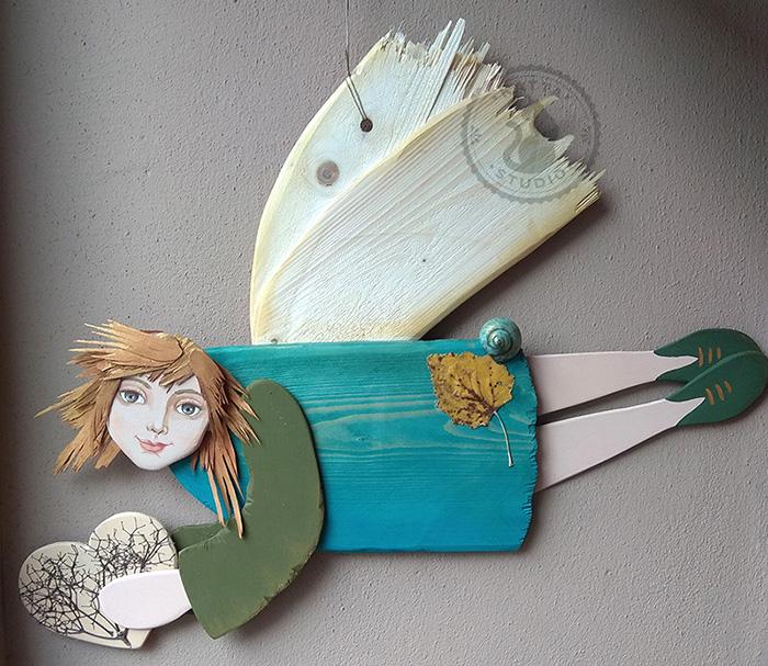 Drewniane anioły Doroty