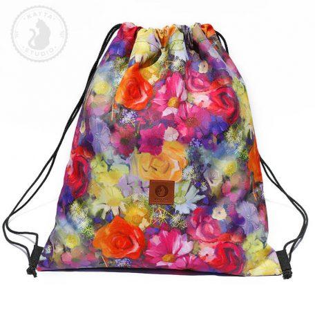 plecak tęczowe kwiaty