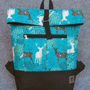 plecak jelenie w turkusie